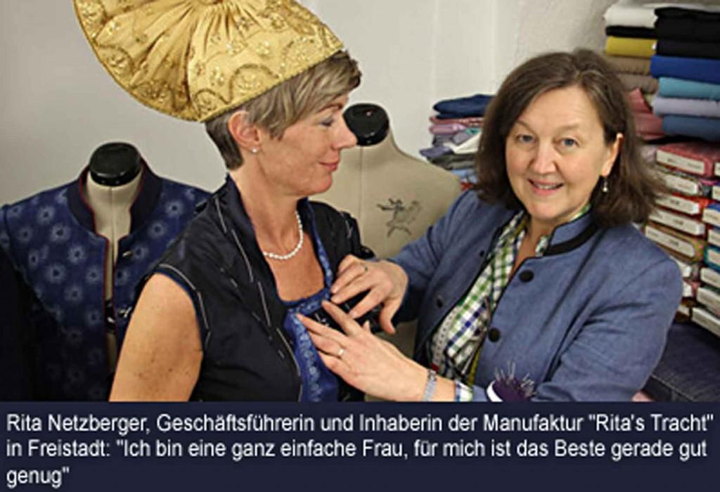 Rita Netzberger, Geschäftsführerin und Inhaberin von Rita's Tracht in Freistadt